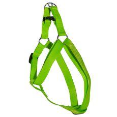Postroj pro psa neon zelený, 1,6 x 30-45 cm