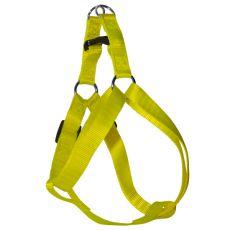 Postroj pro psa neon žlutý, 1,6 x 30-45 cm