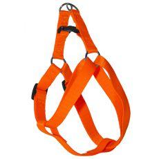 Postroj pro psa neon oranžový, 1,6 x 30-45 cm