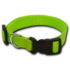 Obojek pro psa neon zelený - 1 x 20-32 cm