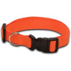Obojek pro psa neon oranžový - 1,6 x 25-39 cm
