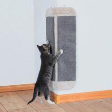 Škrabadlo pro kočky ze sisalu a plyše, rohové - 32x60 cm