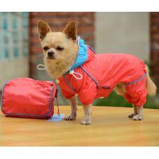 Pláštěnka pro psa v pouzdře - růžová, XS