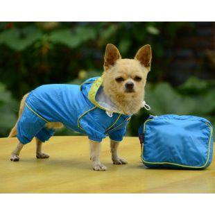 Pláštěnka pro psa v pouzdře - modrá, XS