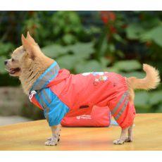 Pláštěnka se vzorem děvčátka pro psa – růžová, XS
