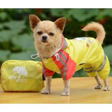 Pláštěnka se vzorem děvčátka pro psa – žlutá, M