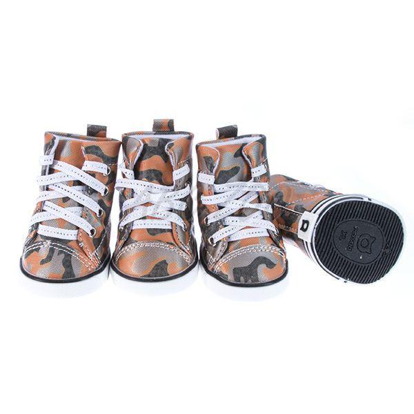 Boty pro psy - maskáčové oranžové e5d821d17b