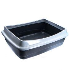 Toaleta pro kočky - šedá - 54,5 x 40 x 18 cm