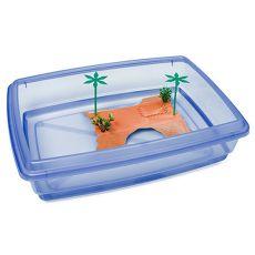 Bazén pro želvy - modrý - 43,5 x 34 x 11 cm