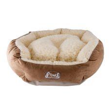 Pelech pro psa - kruhový, světle hnědý, 65x19 cm