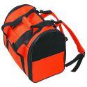 Přenosná taška pro psy a kočky, oranžovo-černá  36 cm