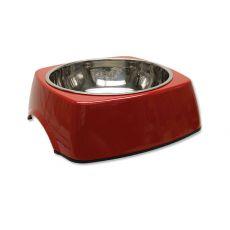 Miska pro psa DOG FANTASY, hranatá - 1,40 l, červená