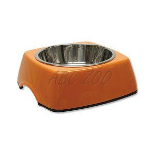Miska pro psa DOG FANTASY, hranatá - 0,35L, oranžová