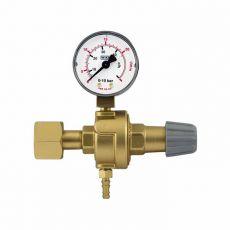 """Redukční ventil CO2 - závit W21,8x1/14"""" s 1 manometrem"""
