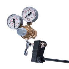 """Redukční ventil CO2 - W21,8x1/14"""" + jehlový + elektromagnetický ventil (2x manometr)"""