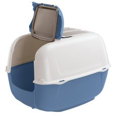 Toaleta pro kočky PRIMA CABRIO modrá - 44 x 40 x 36,5 cm