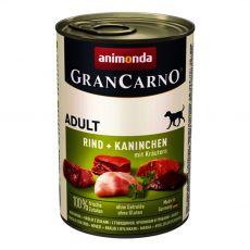 Konzerva GranCarno Fleisch Adult králík + bylinky - 400 g