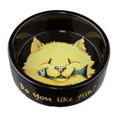 Miska pro kočky černá, keramická - 0,3 l