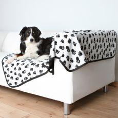 Oboustranná deka pro psy BENNY - černobílá, 150 x 100 cm