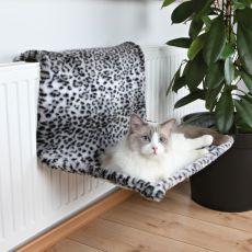 Pelech pro kočky na radiátor - leopard, plyš, 58 x 30 x 38 cm