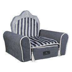 Pelech pro psy a kočky Prince Throne, šedý - 55 x 44 x 40 cm