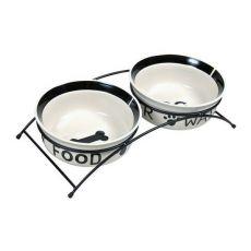 Dvě keramické misky se stojanem - 2 x 2,6 l