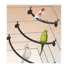 Bidlo pro ptáky plastové BÍLÉ - 1,2 x 21 cm