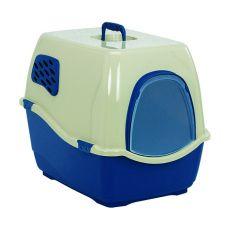 Toaleta pro kočky BILL 1F, modrá - 40 x 50 x 42 cm
