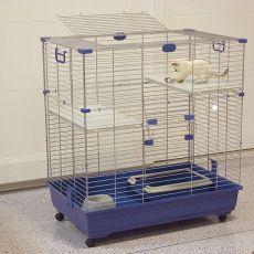 Klec pro kočky ELSA 82 C2, modrá - 82 x 51 x 94 cm