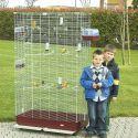 Klec pro ptáky FEDRA 102 bordó - 102 x 54 x 177 cm