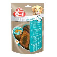 Kuřecí filety pro psy 8 in 1 FILLETS PRO BREATH - 80 g