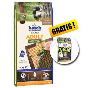 Bosch ADULT Drůbeží a Proso 15kg + 3kg ZDARMA